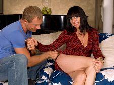 Karen Kougar receives ass-fucked in her first scene